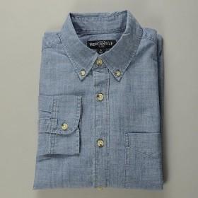 J.CREW / ジェイクルー / FLEX シャンブレーワンポケットシャツ / クラシックウォッシュインディゴ