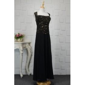 【送料無料】ロングドレス ノースリーブ ワンピース スパンコール エレガント シック 大きいサイズ ドレス 結婚式 お呼ばれ 5l BTBA1110