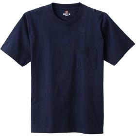 ヘインズ Hanes 【Hanes/ヘインズ】ビーフィー クルーネック半袖ポケットTシャツ H5190 (ネイビー【370】)