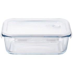 耐熱ガラス密閉保存容器 クックロック レクタングル1000WT H-8765 ( 1コ入 )