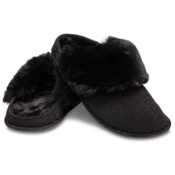 【クロックス公式】 クラシック ラックス スリッパ Classic Luxe Slipper ユニセックス、メンズ、レディース、男女兼用 ブラック/黒 22cm,24cm slipper