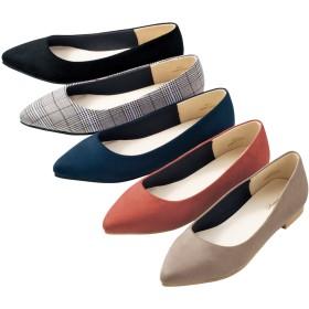 【格安-女性靴】レディースポインテッドトゥカジュアルシューズ