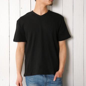 Tシャツ - ローコス Tシャツ メンズTシャツ カットソー メンズカットソー Vネックシャツ メンズVネックシャツ 半袖Vネックシャツメンズ半袖Tシャツ半袖 Vネック 無地 メンズ 春 夏 男性用 ワッフル生地 ミリタリー 爽やか インナー