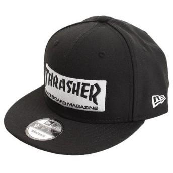 ニューエラ(NEW ERA) 9FIFTY THRASHER スラッシャー ステッカー ブラック × ホワイト 11781331-884 (Men's)