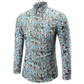 カジュアルシャツ シャツ 大人用 メンズ トップス 長袖 花柄 おしゃれ 大きいサイズ お出かけ