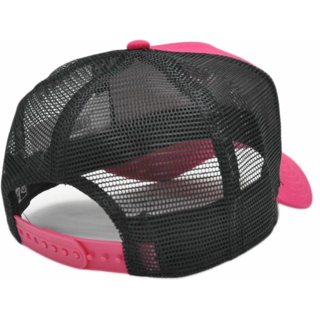 キャップ - DONOBAN ニューエラ メッシュキャップ ◆ NEW ERA 9FORTY A-Frame トラッカー NYC ミニロゴブライトローズ11785637 メンズ 帽子 ロゴ 刺繍 シンプル[FS]