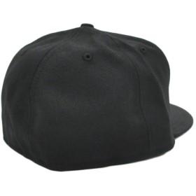 キャップ - stylise ニューエラ キャップ ◆ NEW ERA 59FIFTY NO TEAM ブラック × ホワイト グレーアンダーバイザーN0013842 メンズ 帽子 ロゴ 刺繍 シンプル[FS]
