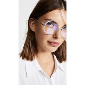 サングラス オプティカル 透明 レディース【The Book Club Surround The World Glasses】Lilac/Silver