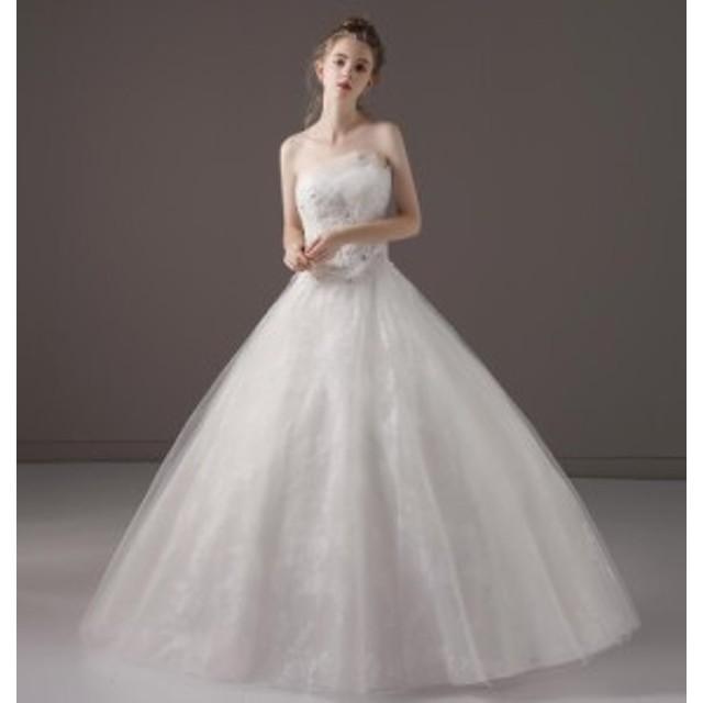 9a3a4852ee097 超豪華ウエディングドレス プリンセスラインドレス 森ガール系 ロング ...