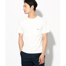 THE SHOP TK / ザ ショップ ティーケー ◆刺しゅう 半袖ポケットTシャツ