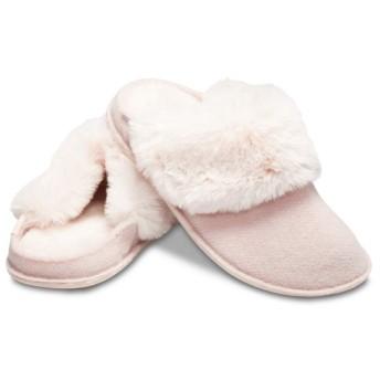 【クロックス公式】 クラシック ラックス スリッパ Classic Luxe Slipper ユニセックス、メンズ、レディース、男女兼用 ピンク/ピンク 22cm,26cm slipper