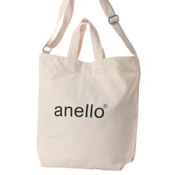 アネロ コットンキャンバス 2WAYトートバッグ 正規品 AI-C2551 IV 13L トートバッグ : アイボリー anello