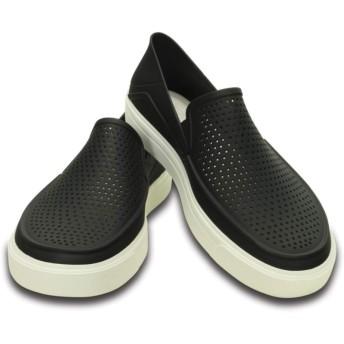 【クロックス公式】 シティレーン ロカ スリップオン CitiLane Roka Slip-ons メンズ、紳士、男性用 ブラック/黒 25cm,26cm,27cm,28cm,29cm shoe 靴 シューズ