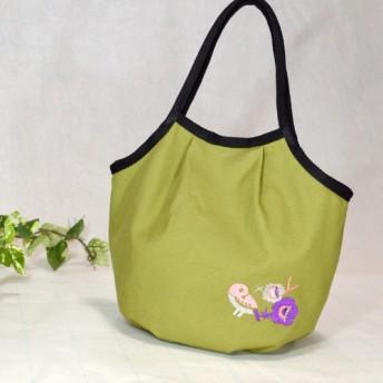 ★-花鳥刺繍-★帆布マチ付きトートバッグ