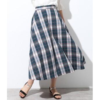 ロングスカート - ViS チェック柄ロングスカート