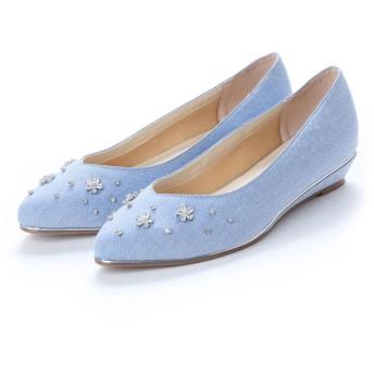 ソフィアコレクション Sophia collection ウエッジソールパンプス (ブルー)