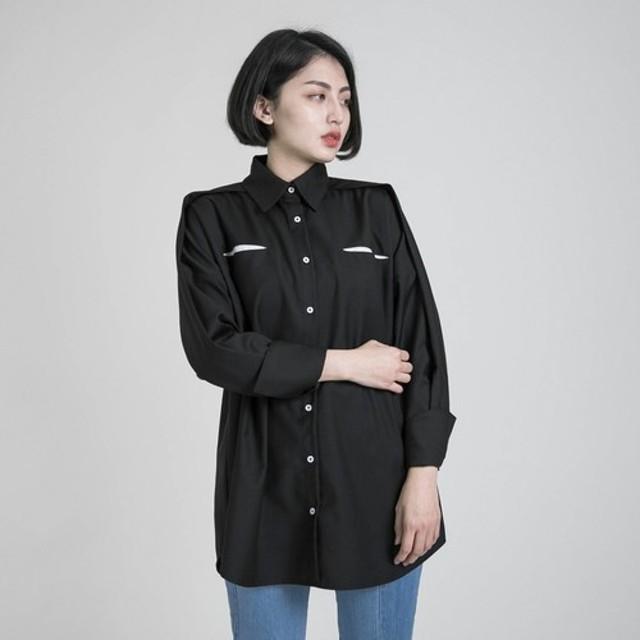 合理的合理的モデリングカットシャツ_8AF050_黒