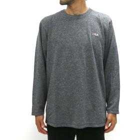 Tシャツ - MARUKAWA フィラ Tシャツ 大きいサイズ メンズ 秋 冬 長袖 サーマル ブラック/ネイビー 2L/3L/4L/5L【ブランド 無地ワンポイント 刺繍】