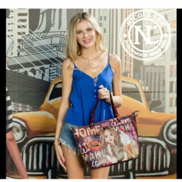 6d9a554a7192 NICOLE LEE ニコールリー GN12656 GIRLS NIGHT OUT リバーシブル レディース トートバッグ スパンコールリップ  nicolelee ニコルリー