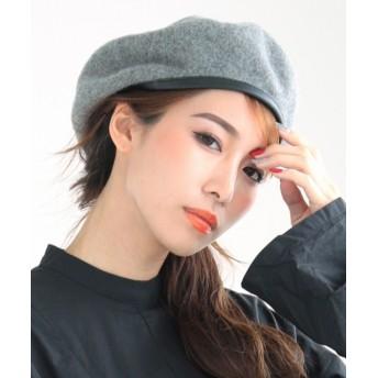 ベレー帽 - DONOBAN 帽子 合皮パイピングフェルトベレー ベレー帽 フェルト帽 ニット帽 レディース DONOBAN SELECT GSP