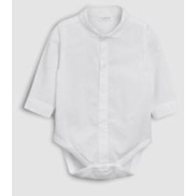 ベビー NEXT  ホワイト 長袖 シャツデザイン ボディースーツ  白シャツ ロンパース ロンパス 子供服  ベビー服 海外子供服