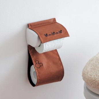 トイレ用品 ペーパーホルダーカバー トイレスリッパ ディズニー 合皮のトイレットペーパーホルダーカバー
