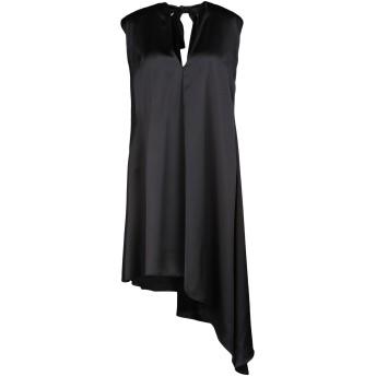 《セール開催中》MSGM レディース 7分丈ワンピース・ドレス ブラック 38 ポリエステル 100%