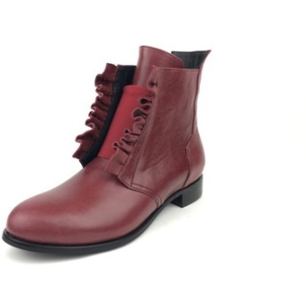 The Deep-sea anemones-Burgundy Red Leather Handmade Boots