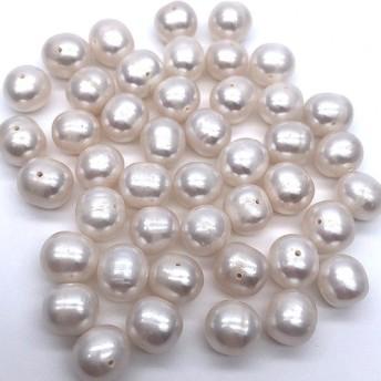 中粒 淡水パール ポテト 10粒 8mm8~9mm 真珠 素材 パーツ ビーズ ルース 材料 傷あり