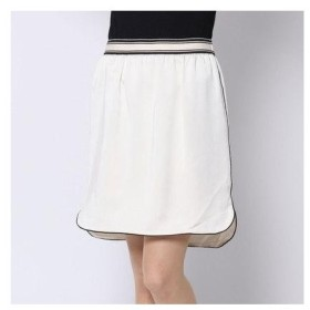 ドレステリア DRESSTERIOR 丸みラインスカート (ホワイト)