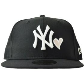 キャップ - stylise DONOBAN別注カラー NEW ERA ニューエラ 59FIFTY ニューヨーク・ヤンキース ハート ブラック×ホワイトピンクハート NEWYORKマルチカラー [11402161][FS]