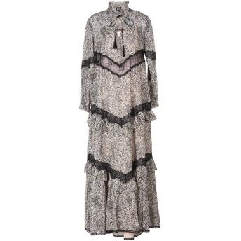 《セール開催中》JUST CAVALLI レディース ロングワンピース&ドレス ドーブグレー 40 コットン 100%
