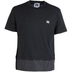 《期間限定セール開催中!》LHU URBAN メンズ T シャツ ブラック S コットン 100% / ポリエステル