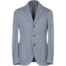 《期間限定セール開催中!》CANTARELLI JERSEY PLANET メンズ テーラードジャケット ブルー 50 コットン 52% / 麻 48%