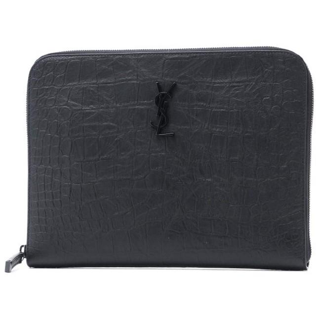 サンローランパリ SAINT LAURENT PARIS タブレットケース ブラック メンズ 529862-c9h0u-1000