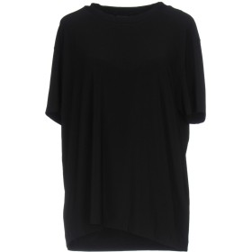《セール開催中》KAMALIKULTURE by NORMA KAMALI レディース T シャツ ブラック XS ポリエステル 95% / ポリウレタン 5%