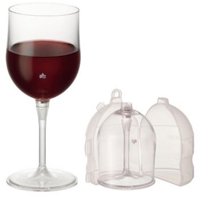 LOGOS ロゴス 割れないワイングラスwithポータブルケース 81285180(食器)