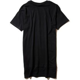 Tシャツ - SHIFFON DEFEND PARIS(ディフェンド パリス) CO TEE LONG ロング丈Tシャツ(ブラック/ホワイト)/メンズ/ユニセックス