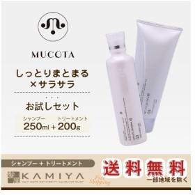 ムコタ アデューラ アイレ 02 エモリエント CMC シャンプー アクア 250ml + アイレ05 ヘアマスク トリートメント スムーサー 200g 計2個 お試しセット 送料無料