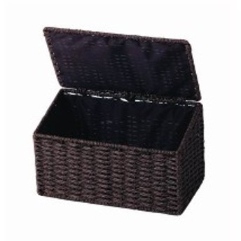 サニタリーボックス トイレポット ゴミ箱 ごみばこ 蓋付き ワイド ダークブラウン
