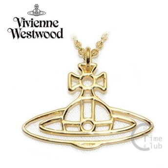 Vivienne Westwood (ヴィヴィアンウエストウッド) ペンダント ネックレス BP60/3 オーブ ゴールド アクセサリー THIN LINES FLAT ORB メンズ レディース