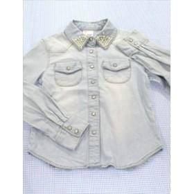 アルジー ALGY デニム シャツ ブラウス 140cm 紺系 トップス 女の子 キッズ ジュニア 子供服 通販 買い取り