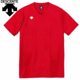 メール便対応 デサント 半袖ゲームシャツ バレーボールウェア メンズ レディース ジュニア DSS-4321-RED