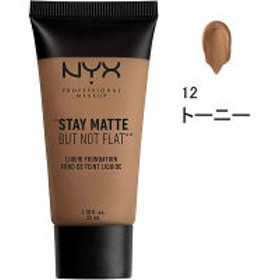 NYX Professional Makeup(ニックス) ステイマット ノットフラット リキッド ファンデーション 12 カラー・トーニー 35ml