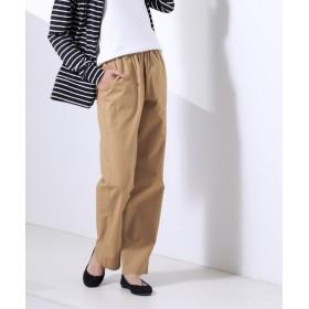 薄軽ベイカーポケットストレートパンツ (股下76cm) (レディースパンツ),pants