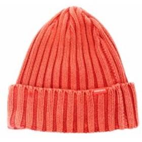 【中古】未使用品 ロデオクラウンズ Rodeo Crowns 帽子 ニット帽 ニット キャップ F 赤 レッド /TH441 レディース