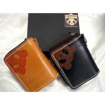 PANDIESTA JAPAN パンディエスタ 熊猫レザーワークス ラウンドジップ 2つ折ウォレット 財布