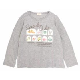 Tシャツ 子供 キッズ 女の子 リース かわいいプリント 長袖Tシャツ 全8色