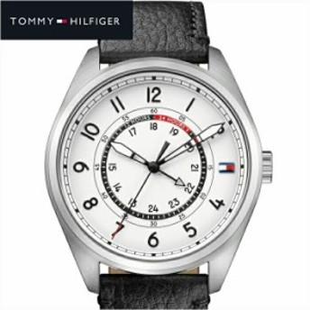 【商品入れ替えクリアランス】トミーヒルフィガー TOMMY HILFIGER 1791373 (160) 時計 腕時計 メンズ ホワイト ブラック レザー 白い腕時