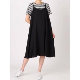 COTORICA WOMEN ボーダーTシャツ キャミワンピース セット